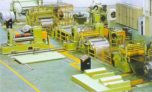 开卷校平生产线的自动化组成描述